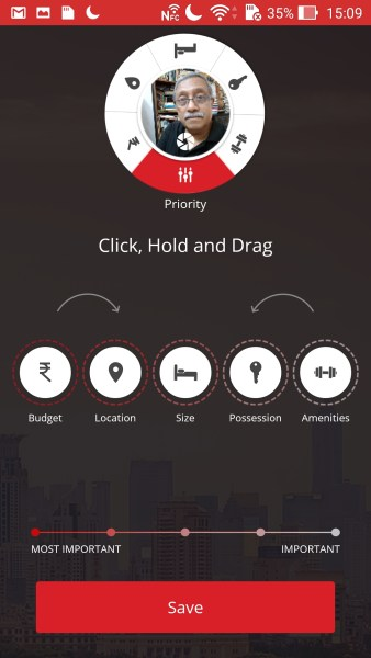 The HDFCRED app is for Android as well as iOS... and allows you to prioritize your options