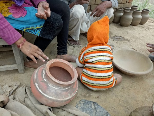 The ghara... or matka... a round terracotta vessel for storing water