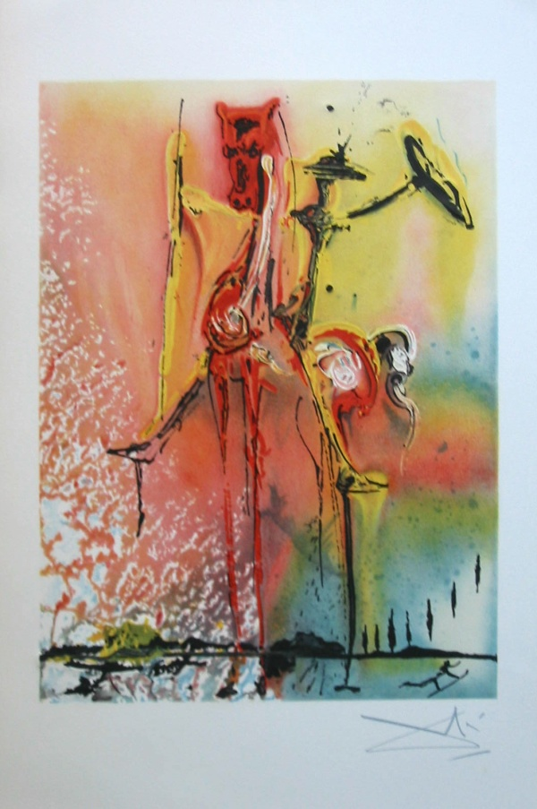 Cuadros De Miro Famosos Salvador Dali : The Knight Of Middle Ages Lithograph From