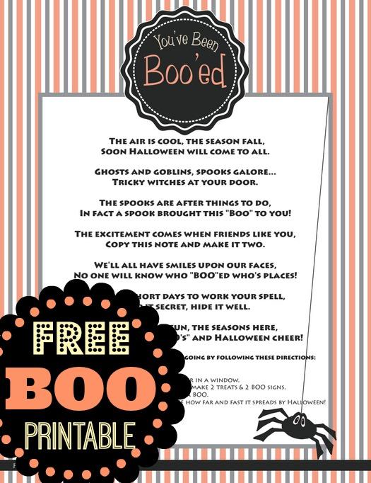 Free You\u0027ve Been Boo\u0027ed Printable Passionate Penny Pincher