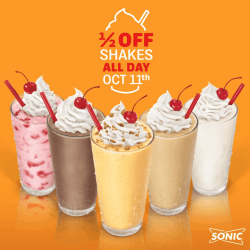 Sparkling Forget You Can Alsoenjoy Half Price Slushes From Pm Every Day At Sonic Half Price Shakes All Day Passionate Penny Get Half Price Sonic Shakes All Day