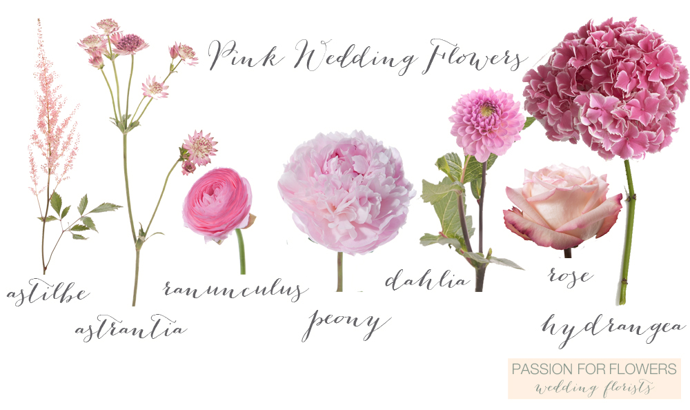 PINK WEDDING FLOWERS \u2013 Passion for Flowers - pink wedding photo