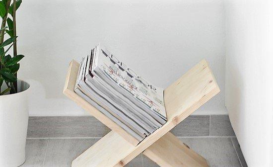 Diy Wooden X Shaped Magazine Holder O Passion Shake