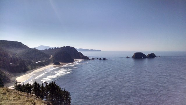 The view from Cape Lookout looking south.
