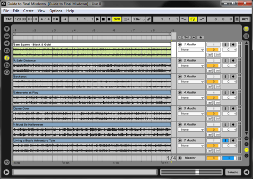 Final Mixdown: Trimmed