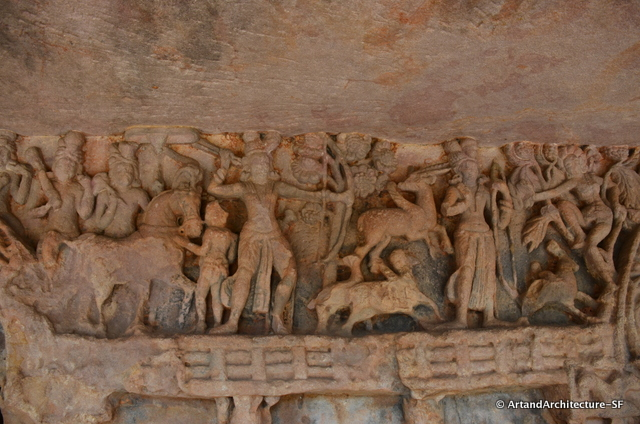 The caves are covered in these exquisite carvings