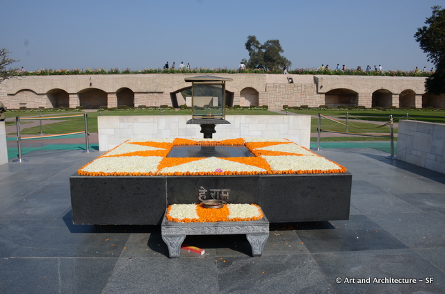 Mahatma Ghandi grave India
