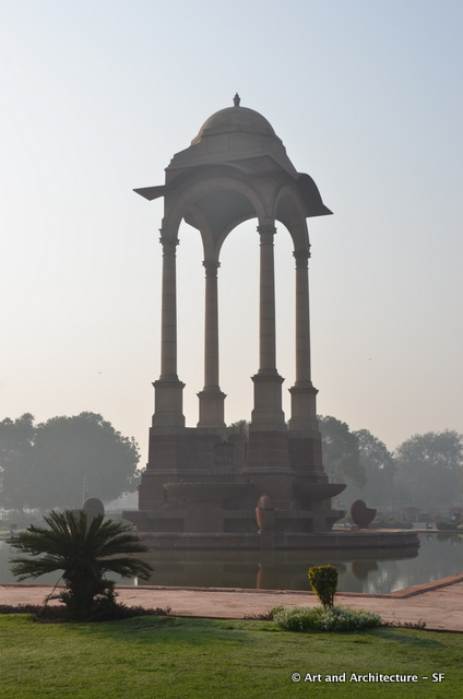 Chhatri (canopy) near the India Gate once held statues of the British Royalty