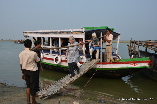 Our personal ferry, notice the safety railing