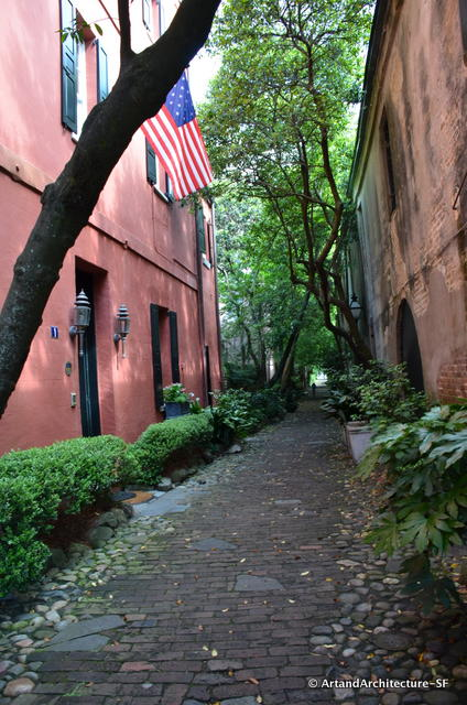 Tiny alleys like this run throughout the old part of Charleston