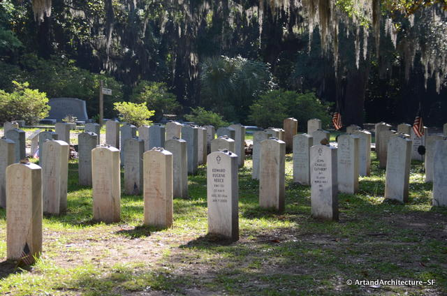 Veterans of many wars will be found at the Bonaventure.  These contain the remains from George Gannon Post 184 and Tybee Island Post 154