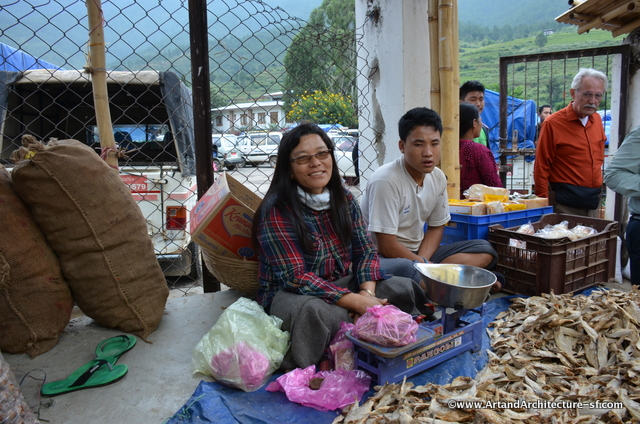 Dried fish is very prevalent in Bhutanese cooking