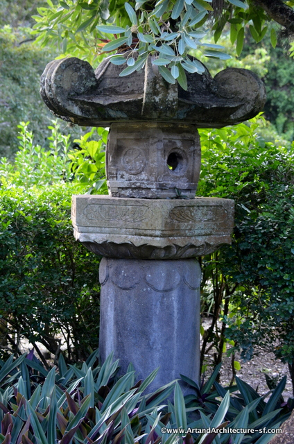 Ishidoro Stone Lantern- erected in 1681 in memory of the fourth Tokugawa shogun, the latter made its way from Kan'eiji temple in Tokyo to a shipbuildier in Kure, Japan. then to West Palm Beach and then a South Florida Museum, before finally resting in Morikami