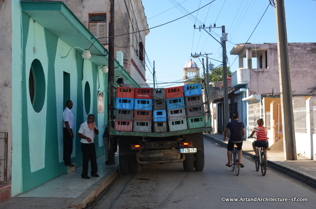 Typical street in Bayamo, Cuba