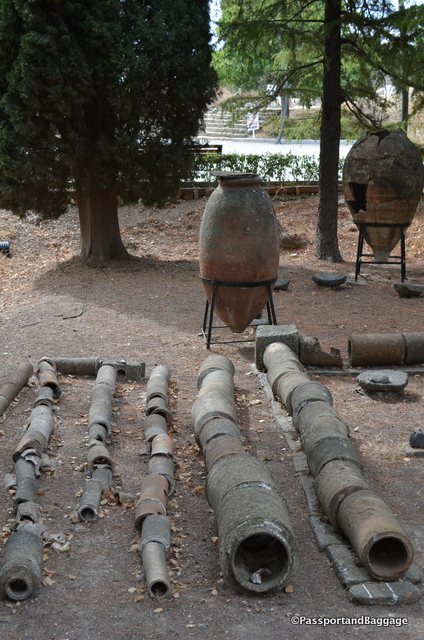 Amphora and water pipes of ancient Troy