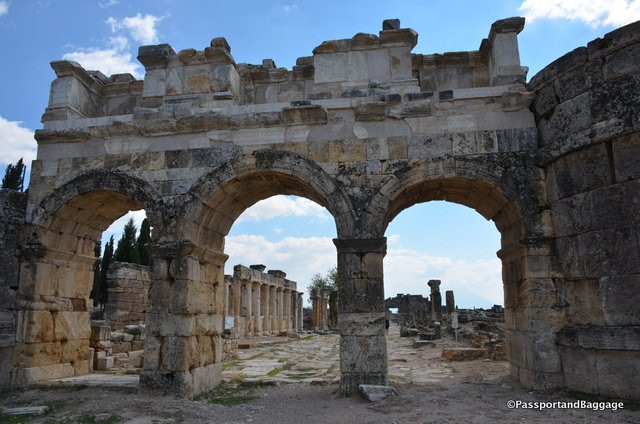 The north Byzantine gate was built at the end of the 4th century AD.