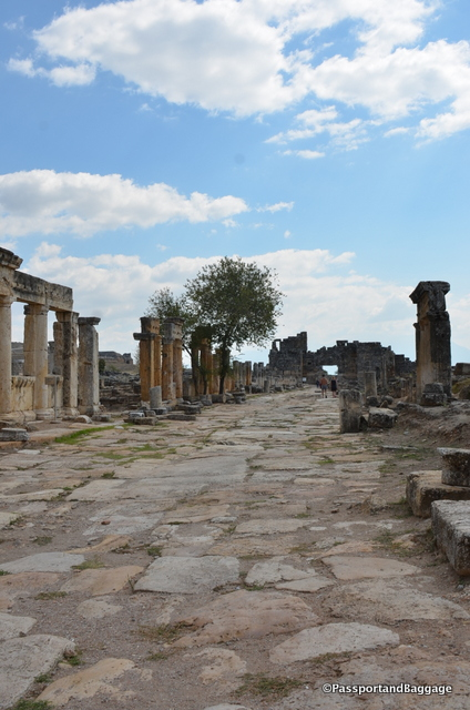 Frontons Street was the principal street of Heklj;; It was built in the 1st century AD