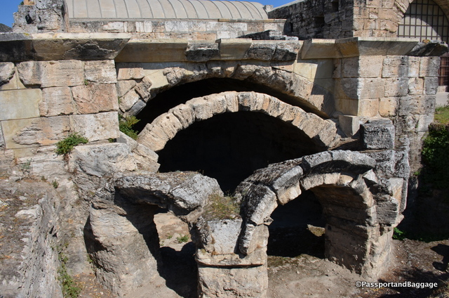 The exterior of the baths