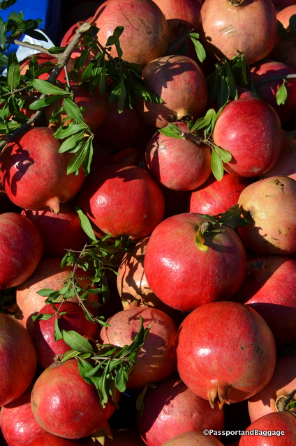 Everywhere in the valley pomegranates were ripening on the trees and found on the streets as fruit or fresh squeezed juice