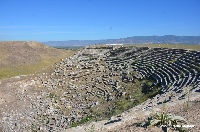 This is the West Theater. It functioned from the Hellenistic period through to the big earthquake of 602-610