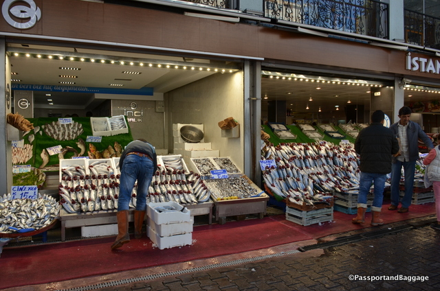 The fish markets were doing a booming business
