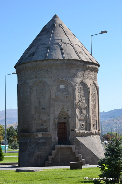 Octagonal tomb of Döner Kümbert was constructed around 1250 and is the final resting place of Şah Chan Hatun, a Seljuk princess