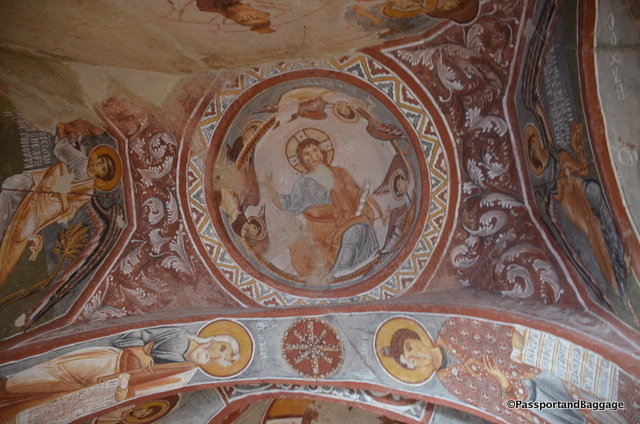 Church frescoes in the outdoor museum of Goereme