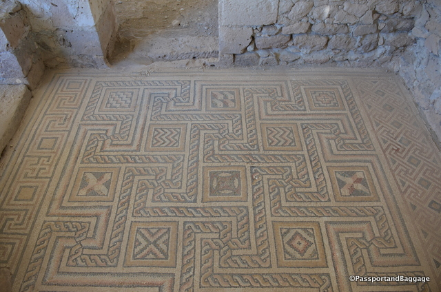 One of the many tile floors at Sobessos