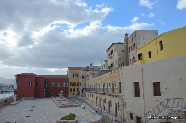 The interior courtyard of what is left of Firka Fortress