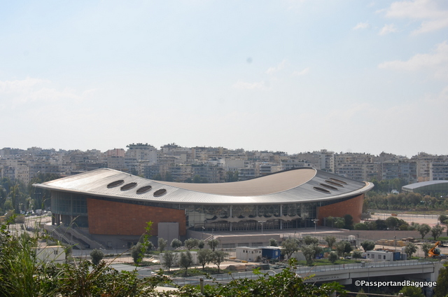 The Olympic venue for Tai Kwan Do, which can be seen from the roof of the Stavros Niarchos project