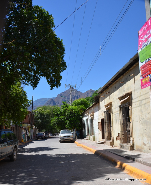 The main street of Urique