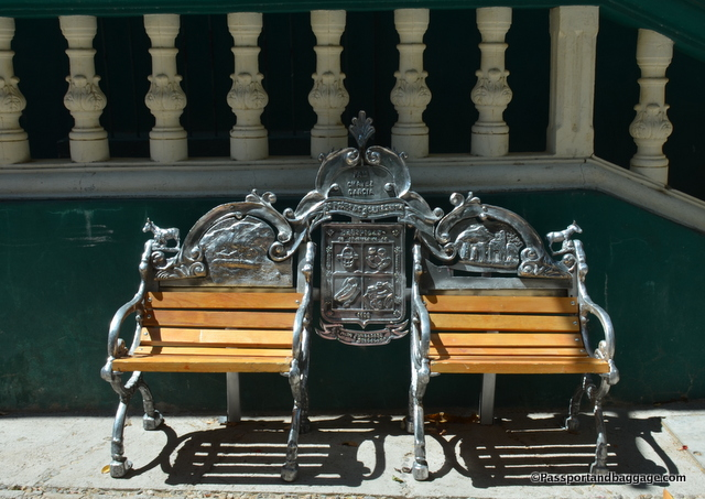 These grand benches are in most towns of Chihuahua, they are each customized in one way or another.