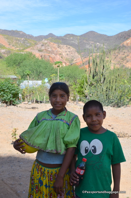 Two Tarahumara children from the town of Satevo. We got a smile from them for a Coca-Cola