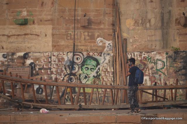 Grafitti on the Ganges