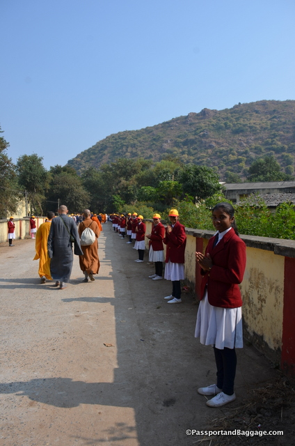 All the school children lined the streets as we left the village waving, saying Namaste, Goodbye, Have a pleasant journey. It was very sweet and heartfelt