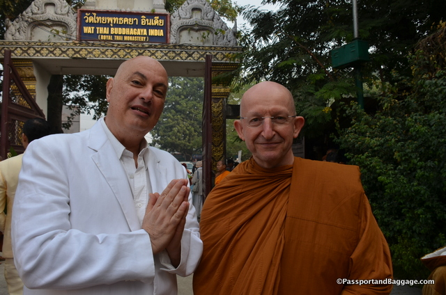 Nelson with Ahajn Amaro, a highly respected Buddhist monk, originally from England.