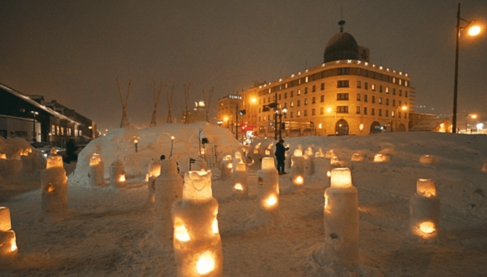 Otaru snow light festival