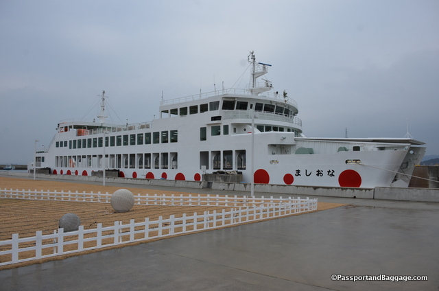 One of the inner-island ferries in Miyanoura Port