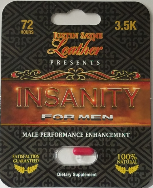 "Justin Sayne Announces Launch of Male Performance Product ""INSANITY"" to wholesale and public markets."