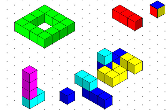 Isometric Drawing and 3D Cubes Passy\u0027s World of Mathematics