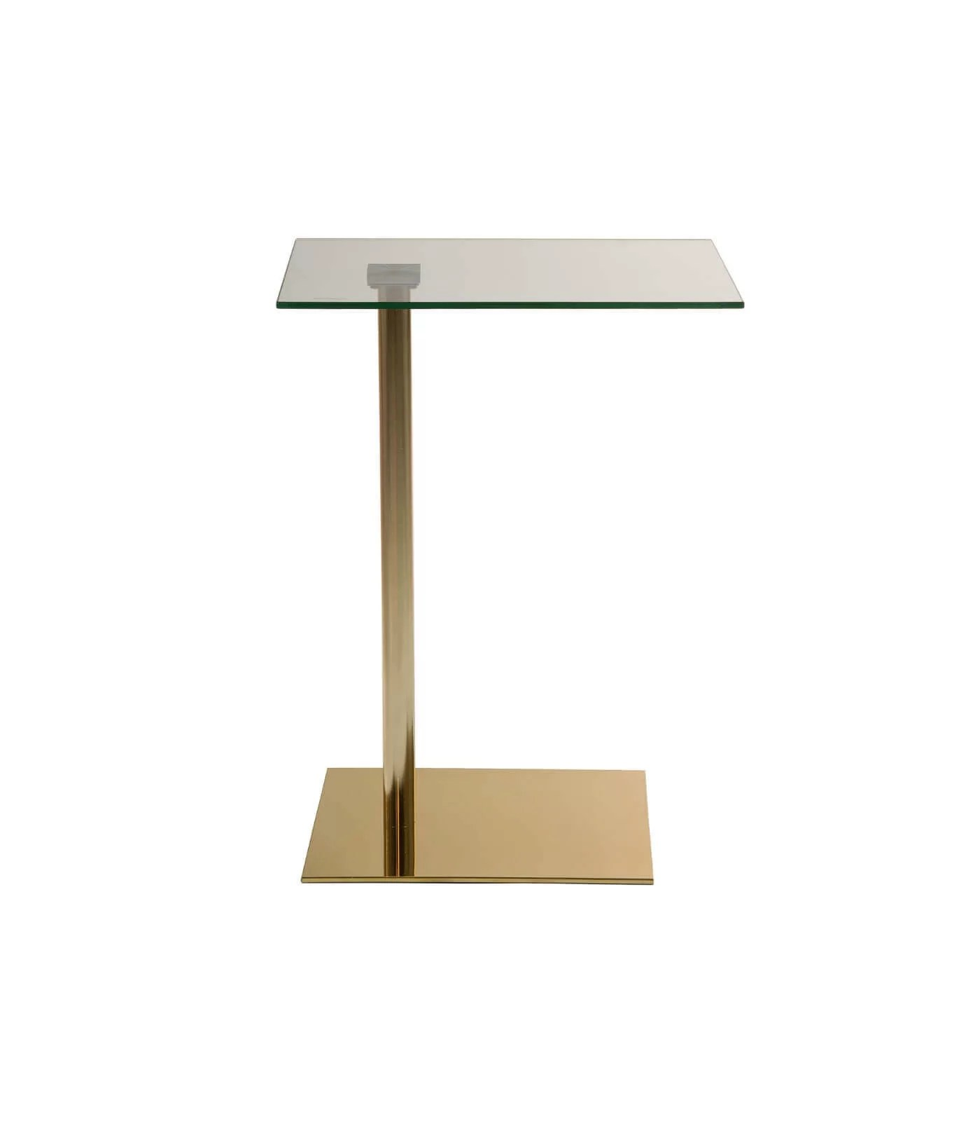 Table Appoint Verre Table D Appoint Emy Verre Laiton Pastel Living