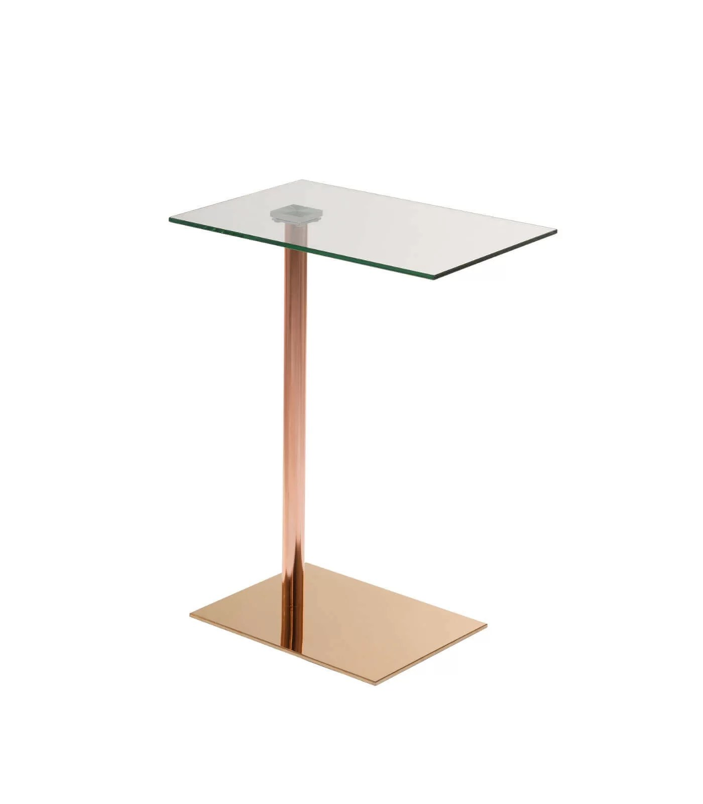 Table Appoint Verre Table D Appoint Emy Verre Or Rose