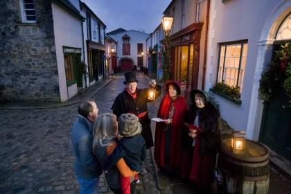 Traditional Christmas Caroling at the Ulster American Folk Park.