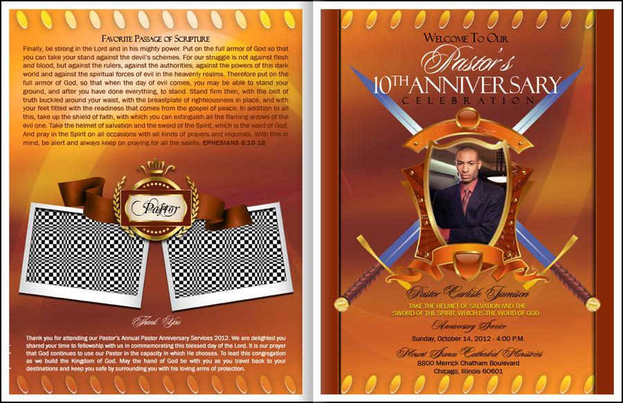 Excellence Pastor Anniversary Program Pastor Anniversary Pastor