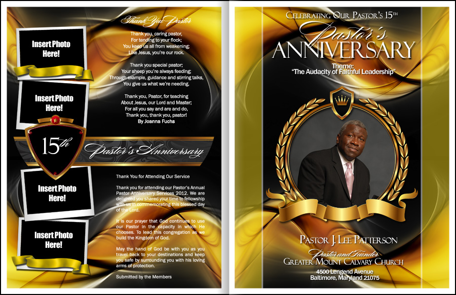 Sacrament Pastor Anniversary Program Pastor Anniversary Pastor