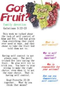 Got Fruit selfcontrol
