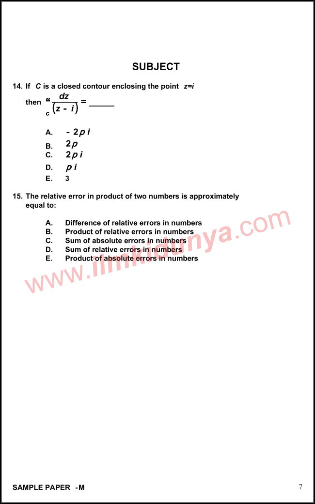 NTS Sample Past Papers Teaching Staff Secondary School Educator - sample staff paper