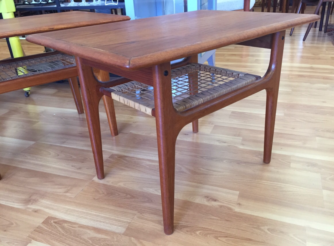 Danish Modern End Table Pair Danish Modern Teak End Tables Sold Past Perfect