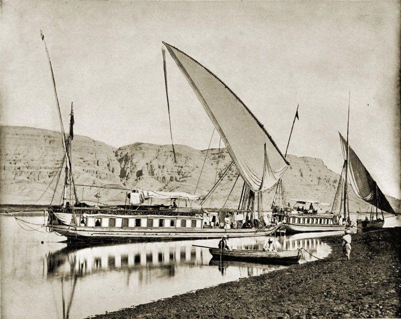 Excursion on the River Nile Egypt about 1892