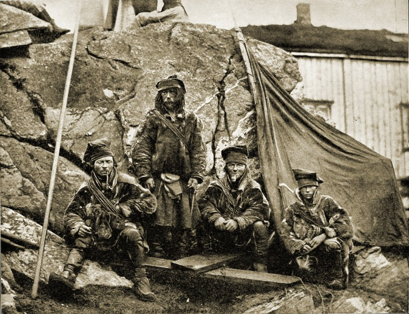 Group of Lapps Norway about 1892